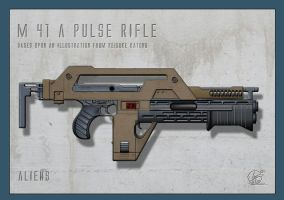 Alien -  M41a Pulse Rifle by Paul-Muad-Dib