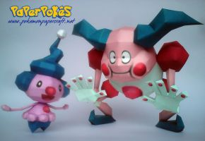 Mime Jr and Mr. Mime Papercraft