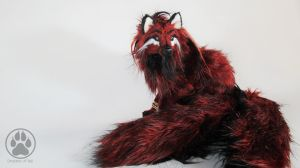 SOLD Tetrad the blood moon fox poseable artdoll! by CreaturesofNat