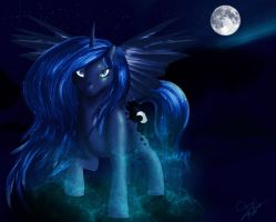 ~Princess Luna~ by Phantomstar-wolf7