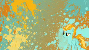 Lightning Dust Splatter Wallpaper by brightrai