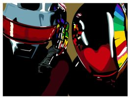 daft punk by qwijibo