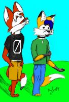 Kyte and Zylch +Color'd+ by KyteTheFox