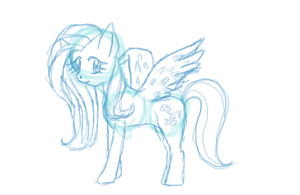Sketchy thing of Fluttershy by meimeix
