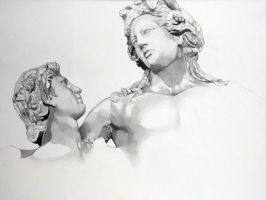 Dionysus and Satyr by isaac-laforete