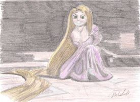 rapunzel restrained by thunderingpikachu