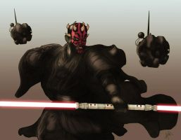 Darth Maul colors by peetietang