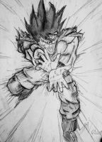 Goku throwing something... by Roadstar91