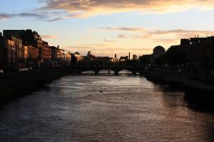 Sunset on river Liffey by alicegush