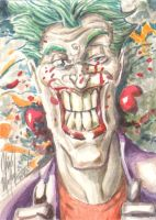 Joker Sketch Card 022710 by ChrisMcJunkin