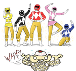Go Go Golden Rangers by batwing321