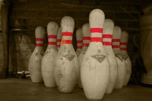 Red Bowling Pins by ExposurePersonality