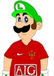 LUIGI in man utd strip by AndWii