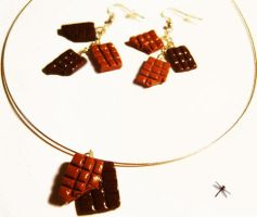 chocolate bar jewelry by dragonflyme
