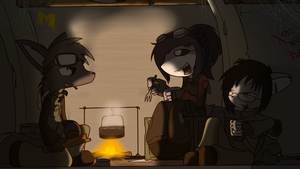 Campfire Comrades by Sandwich-Anomaly