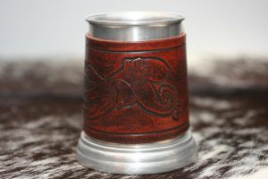 Octopus Tankard with Leather Cover by Versalla
