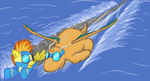 Spitfire and Dragonite by Dragonsbld