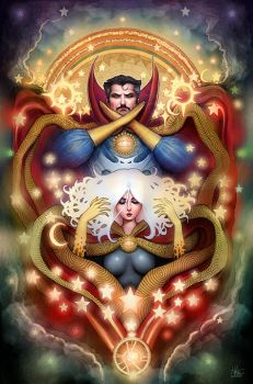 Dr Strange and Clea by Nszerdy
