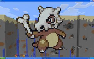 Cubone On Minecraft by Miccopicco