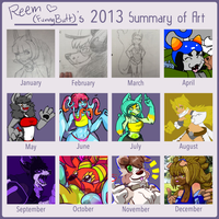 2013 Art Summary by funnybutt