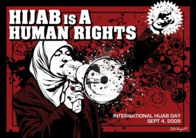 Hijab is A Human Rights by graphic-resistance