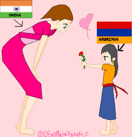 India and Armenia by bonnybanshey