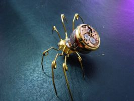 Golden Clock-Spider 02 by spounyboy