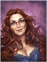 Commission: Selene portrait by shideh