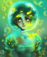 Alice under water by coralinejohns