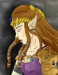 Princess Zelda by crooked-young