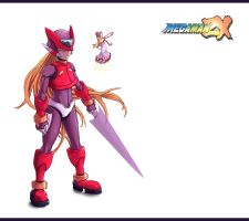 Omega Megaman ZX by Materclaws