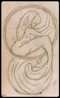 Mermaid in Circle by SomeSenseOfSecurity
