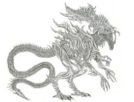 Xenomorph Alien King by WretchedSpawn2012