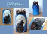 Toddwolf pencil holder commission by Lelixiana
