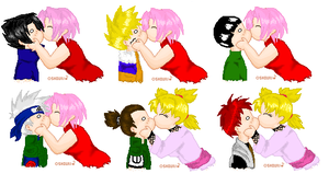 Chibi Naruto Couples Set 1 by Tora-Kat