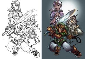 Hyrule Heroes by thesealord