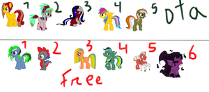 Mlp adoptables free and dta by dratini12