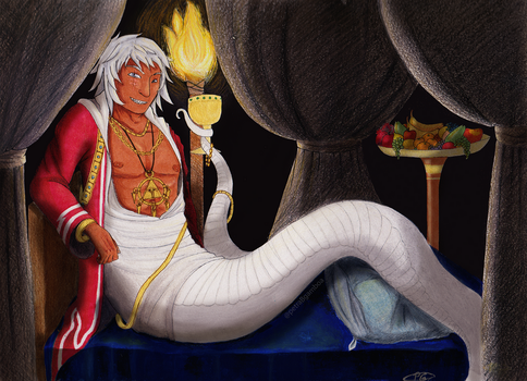 Naga Thief King Bakura by SweetTangie