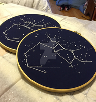 Sagittarius Embroidery by mollieevans