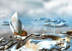 Journey to the North Pole by maciejfrolow