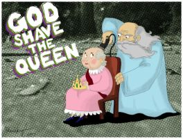 God shaves the Queen by Velica