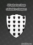 45 photoshop shields shapes by Tutsii
