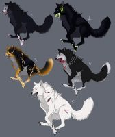 Halloween Wolf Adopts: CLOSED by Tricksters-Adopts