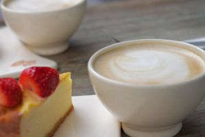 Cheesecake and Coffee by yalsaibie