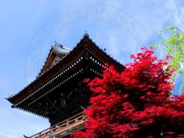 Temple with Trees by Nikkuman