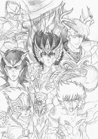 Saint Seiya - draft #1 by Gugaaa