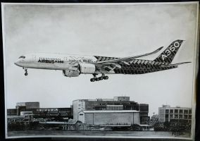 Airbus A350 drawing by alainmi
