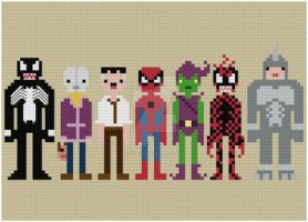 Spider-Man and foes cross stitch pattern by avatarswish