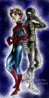 two faces of spiderman by zelldinchit