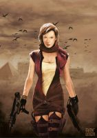 Tribute to Resident Evil by artupida